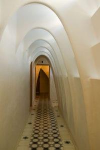 Curved hallway inside Casa Batllo.