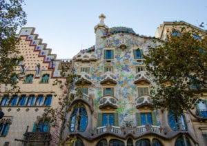 Outside Casa Batllo in Barcelona