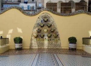 Outdoor patio of Casa Batllo