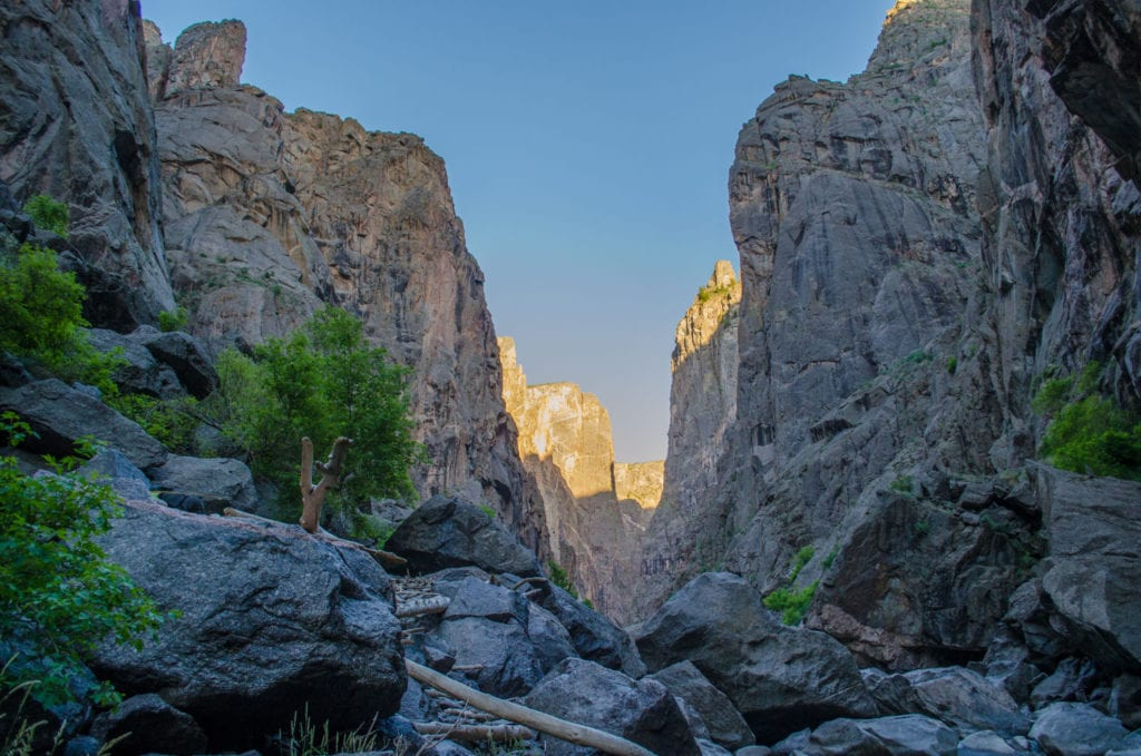 Backpacking in the Black Canyon of the National Park