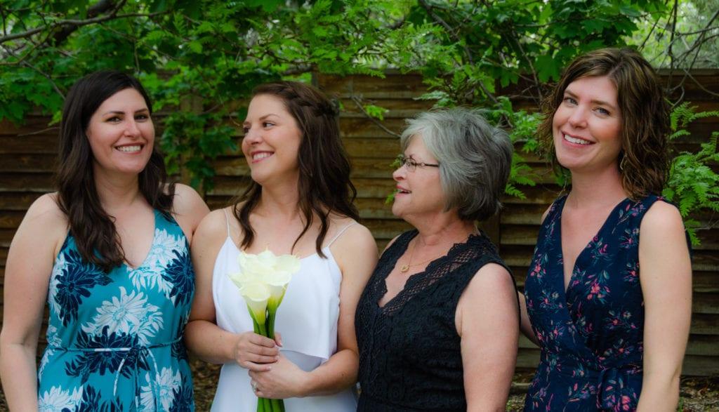 Family wedding in Colorado
