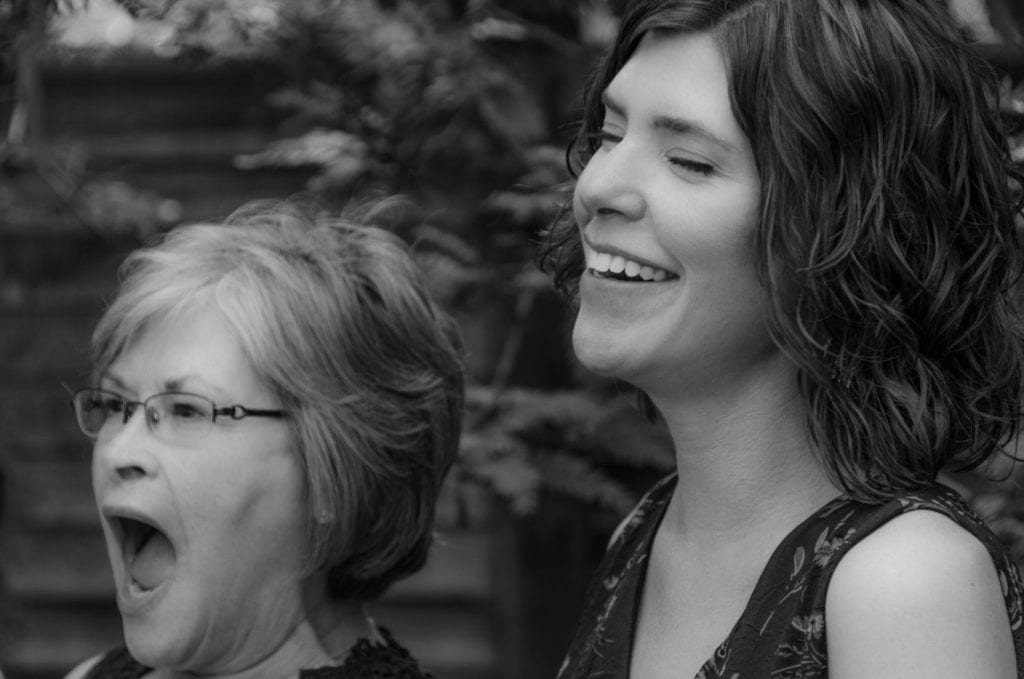 image of mother daughter laughing
