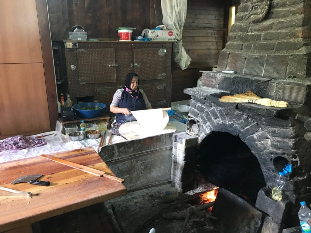 image of local cook making Gozleme