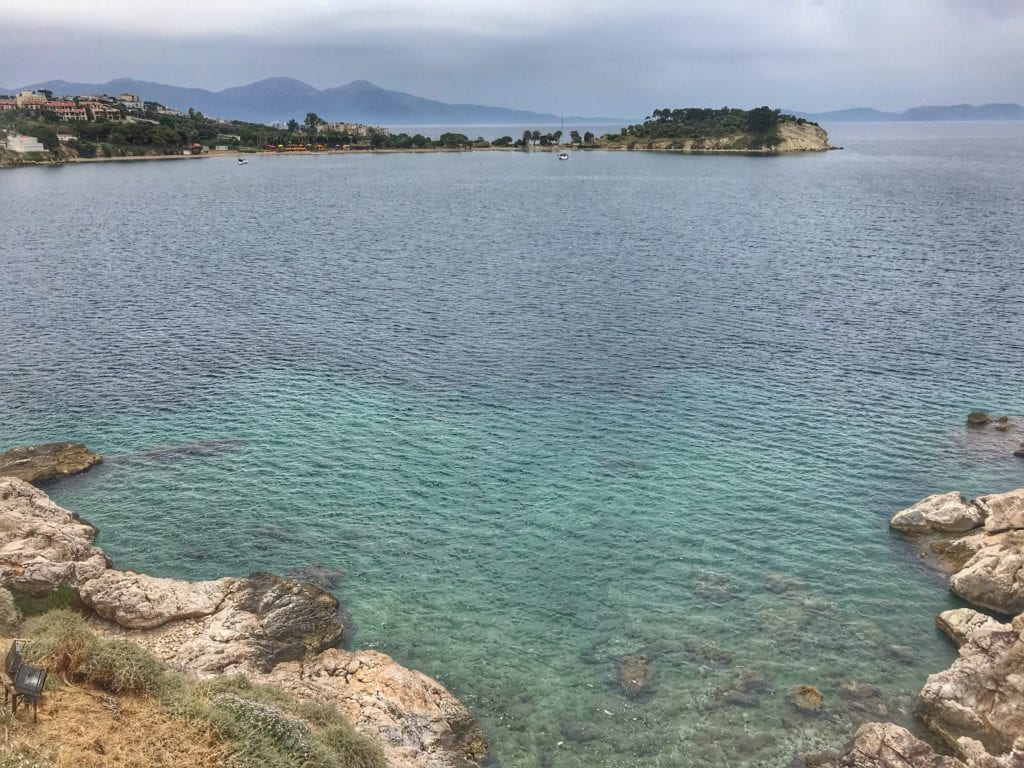 image of Aegean sea from Pigeon Island