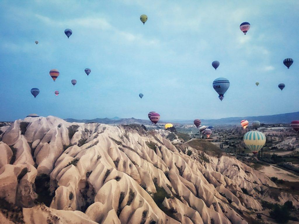 image of hot air balloon ride in Cappadocia
