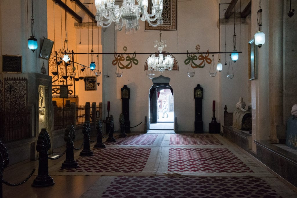 image of inside the Mevlana Museum