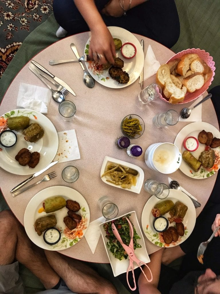 image of food at a table
